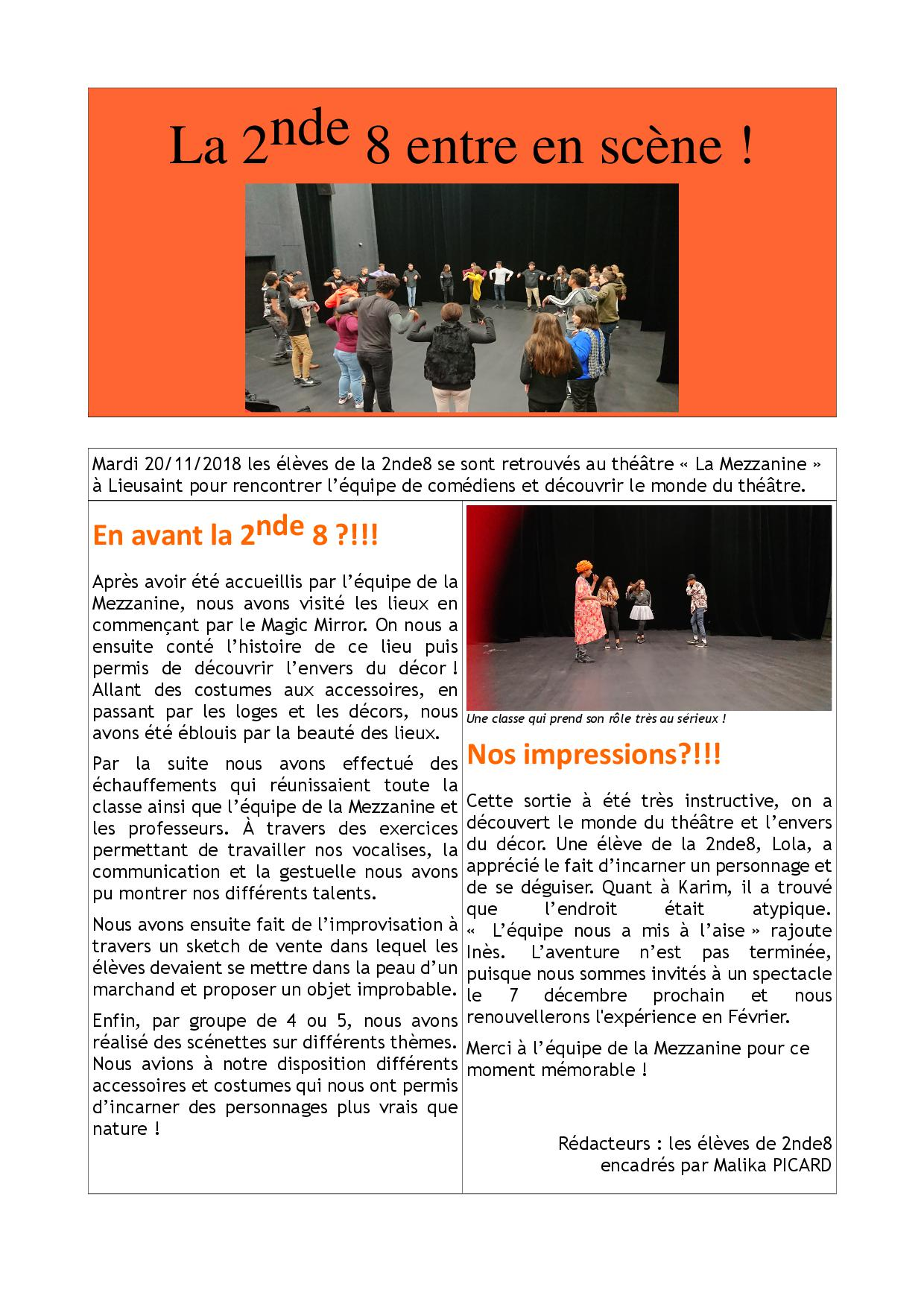 Article 2nde 8 theatre